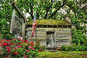 Log Cabin Art Photo Prints - Old School House Print by Darren Fisher
