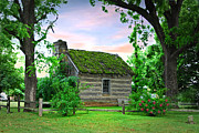Log Cabin Art Prints - Old School House Print by Mary Timman