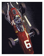 Motorsport Drawings - Old School by Robin DaSilva