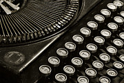 Typewriter Photos - Old School Type by Teresa Jack