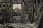 Cabin Window Photos - Old School Wilson Picture Frame by Mike Berenson
