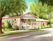 Old Schoolhouse Theater On Sanibel Island Print by Melinda Saminski