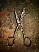 Old Scissors Print by Carlos Caetano