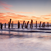 Yorkshire Prints - Old Sea Defences Spurn Point Yorkshire Print by Colin and Linda McKie