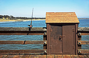 Old Shed On Ventura Pier Print by Susan Wiedmann