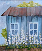 Shed Paintings - Old Shed by Phiddy Webb