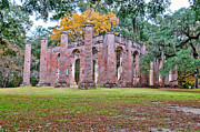 Church Ruins Photos - Old Sheldon Chruch by Scott Hansen