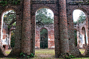 Historic Ruins Photos - Old Sheldon Ruins Archway by Scott Hansen