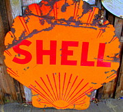 Shell Sign Art - Old Shell Sign by Randall Weidner
