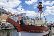 Old Ship - Nyhavn - Copenhagen Denmark Print by Jon Berghoff