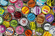 American Metal Prints - Old Soda Caps  Metal Print by Tim Gainey