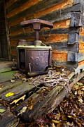 Log Cabins Art - Old Sorghum Press by Debra and Dave Vanderlaan