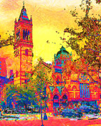 Boston Digital Art Metal Prints - Old South Church Metal Print by Anthony Caruso