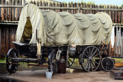 Cowboys Originals - Old stagecoach parked for the evening by Tommy Hammarsten