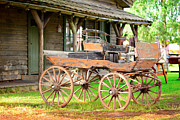 Famous Streets Originals - Old stagecoach parked by Tommy Hammarsten