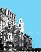 Pen And Ink Posters - Old State House Boston Poster by Dean Caminiti