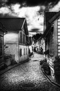 Cobblestone Prints - Old Stavanger part II Print by Erik Brede