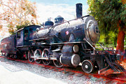 Wingsdomain Art and Photography - Old Steam Locomotive 5D29122wcstyle