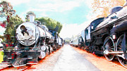 Wingsdomain Art and Photography - Old Steam Locomotive 5D29143wcstyle
