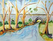 Home Interior Paintings - Old Stone Bridge by Donna Blackhall