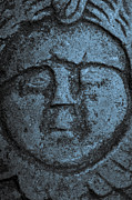 Lars Hallstrom - Old stone face in blue