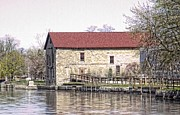 Photoshop Photos - Old stone house on the canal by Jim Lepard