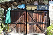 Barn Door Posters - Old Storage Shed At the Swiss Hotel Sonoma California 5D24457 Poster by Wingsdomain Art and Photography