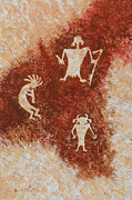 Anasazi Prints - Old Stories Print by Jerry McElroy