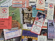 Red Sox Tickets Posters - Old Stubs Poster by Barry Fineberg