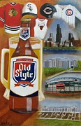 Bulls Painting Originals - Old Style Chicago Style by Craig Wade