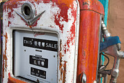 Outsides Art - Old Style Gilbarco gas pump by Jason O Watson
