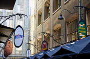 Old-style Signs Above A Melbourne Laneway Print by David Hill