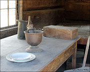 Old Cabins Photos - Old Table 1 by Lydia Warner Miller