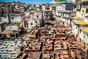 Fes Framed Prints - Old tannery in Fes Framed Print by Sabino Parente