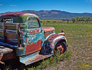 Taos Prints - Old Taos Pickup Truck Print by Matt Suess