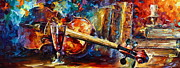 Wine Glass Paintings - Old Thoughts by Leonid Afremov