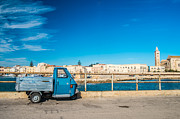 South Italy Prints - Old three wheels car Print by Sabino Parente