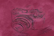 Camera Digital Art Originals - Old Time Camera by Marilyn Giannuzzi