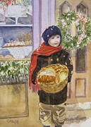 Jordan Paintings - Old Time Christmas by Carol Flagg