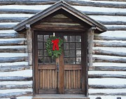 Log Cabin Photographs Prints - Old Time Door Print by Robert Margetts