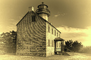 Renovation Framed Prints - Old Time East Point Light Framed Print by Joan Carroll