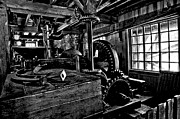 Grist Mill Prints - Old Time Gears Print by Adam Jewell