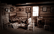 Mountain Cabin Metal Prints - Old-Time Living Metal Print by Paul W Faust -  Impressions of Light