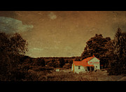 Red Roof Mixed Media Prints - Old Time Mercantile Print by Living Waters Photography