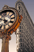 Flat Iron Framed Prints - Old Time - NYC Framed Print by Linda  Parker