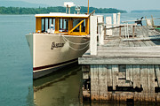 Geobob Prints - Old time tour boat at dock in Shoreham Vermont on Lake Champlain Print by Robert Ford
