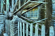 Grist Mill Prints - Old Time Wheels Print by Adam Jewell