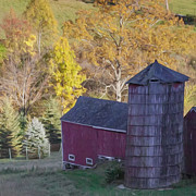 Autumn Farm Scenes Prints - Old Timer Print by Bill  Wakeley