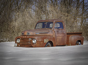 Rusty Pickup Truck Photos - Old Timer In Color by Thomas Young