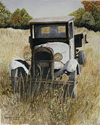 Rusty Truck Paintings - Old Timer by William  Clark
